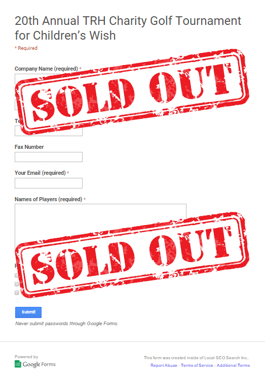form sold out